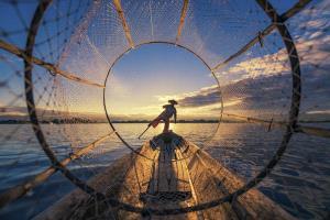 SPC Merit Award - Feng Ni (China)  Fishman On The Inle Lake 1