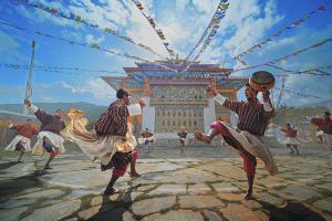 APAS Gold Medal - Arnaldo Paulo Che (Hong Kong) <br /> Drum Dance From Bhutan 2