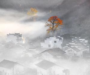 ICPE Honor Mention e-certificate - Wenhui Yuan (China)  Mountains In Autumn