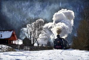 APU Honor Mention e-certificate - Lajos Nagy (Romania)  Landscape With Train